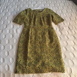 Boden dress - Chartreuse